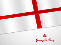 St George`s Day background. Illustration of England Flag for St George`s Day Stock Images