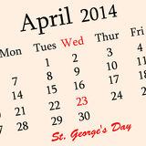 St George`s Day background Stock Photos