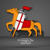 St George`s Day background Stock Image