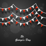 St George`s Day background. Illustration of England Flag for St George`s Day Royalty Free Stock Photo