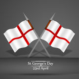 St George`s Day background. Illustration of England Flag for St George`s Day Stock Photo