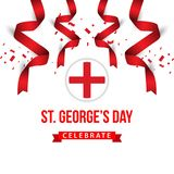ST George's Day Celebrate Vector Template Design Illustration. Georges flag england background banner english symbol cross uk kingdom castle culture royalty free illustration