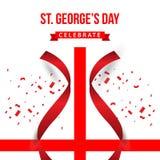 ST George's Day Celebrate Vector Template Design Illustration. Georges flag england background banner english symbol cross uk kingdom castle culture vector illustration