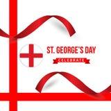 ST George's Day Celebrate Vector Template Design Illustration. Georges flag england background banner english symbol cross uk kingdom castle culture stock illustration