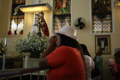 St. George`s Day celebrations in Rio de Janeiro. Rio de Janeiro, Brazil, April 23, 2017: Thousands of devotees take part in the celebrations at the Church of St Stock Photo