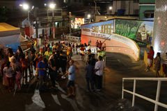 St. George`s Day celebrations in Rio de Janeiro. Rio de Janeiro, Brazil, April 23, 2017: Thousands of devotees take part in the celebrations at the Church of St Royalty Free Stock Image