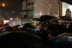 St. George`s Day celebrations in Rio de Janeiro. Rio de Janeiro, Brazil, April 23, 2017: Thousands of devotees take part in the celebrations at the Church of St Stock Photos