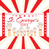 St George's Day. Vector illustration of a background for St George's Day Stock Images