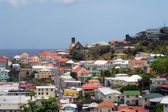 St George's Grenada. St. George's in Grenada on hazy day, caribbean city Royalty Free Stock Photos