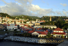 St George's Grenada. St George's town in Grenada the West Indies Royalty Free Stock Image