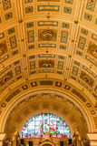 St George's Hall inside - ceiling. ENGLAND, LIVERPOOL - 15 NOV 2015: St George's Hall inside - ceiling Stock Photography