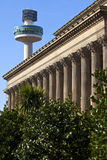 St. George's Hall and Radio City Tower in Liverpool Royalty Free Stock Images