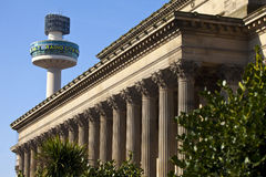 St. George's Hall and Radio City Tower in Liverpool Royalty Free Stock Image