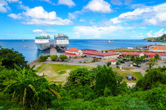 St George s harbour in Grenada Stock Photography