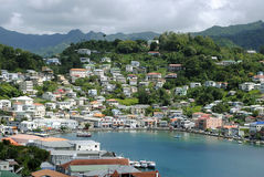 St George's harbour in Grenada. St George's inner harbour in Grenada Stock Photos