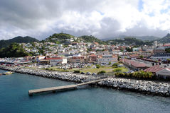 St George's harbour in Grenada. St George's harbour Grenada in the West Indies Royalty Free Stock Image