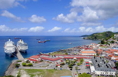 St George's harbour in Grenada. St George's harbour Grenada in the West Indies Stock Photos
