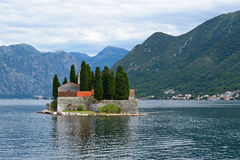 St. George's Island in Bay of Kotor Royalty Free Stock Images