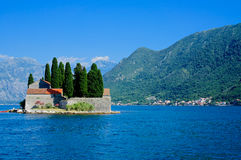 St. George's Island, Bay of Kotor, UNESCO World Heritage Site Stock Photography