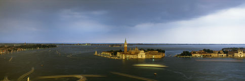 St. George`s Island and canals, Venice, Italy Stock Photography