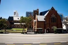St George ` s katedralny budynek w Perth centrum miasta obraz royalty free