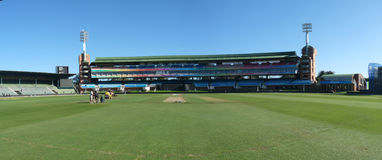 St. George's Park cricket stadium. The St. George's Park cricket stadium at Port Elizabeth in South Africa during the Champions League T20 tournament stock image