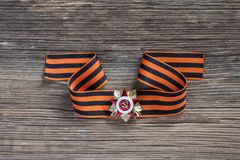 The St. George's ribbon and medal of Great Patriotic War, 9 may Royalty Free Stock Photo