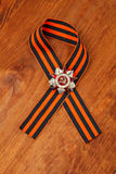 St. George's Ribbon and Order of the Patriotic War in St. Symbols of Victory Royalty Free Stock Images