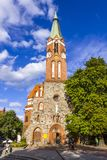 St.George`s Roman Catholic Church in Sopot, Poland. SOPOT, POLAND - JULY 31, 2015: St.George`s Roman Catholic Church in Sopot. Built in 1901 in Neo Gothic style Royalty Free Stock Photography