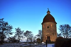 St. George`s Rotunda, The Romanesque St. George rotunda is the oldest building in the town Skalica royalty free stock photos
