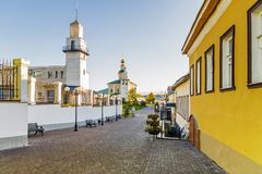St. George`s street in the old town of Vladimir, Russia.  stock photos