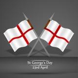 St- George` s Tageshintergrund Stockfoto