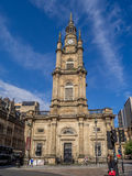 St George`s Tron Church. GLASGOW, SCOTLAND - JULY 20: Tourists near St George`s Tron Church on July 20, 2017 in Glasgow, Scotland. The building was opened in Royalty Free Stock Photo