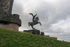 St George Slaying draken, Moskva Arkivfoto