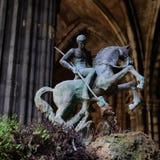 St George som dräpar draken Arkivfoto