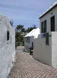 St. George Street. The stylish small street in St. George old town, previous capital of Bermuda stock photo