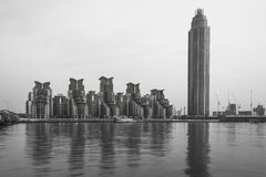 St George Tower, London, UK - black and white Stock Photography