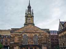 St George Tron Church in the Old City of Glasgow. Glasgow is the city in the Lowlands in Scotland in the United Kingdom Royalty Free Stock Images