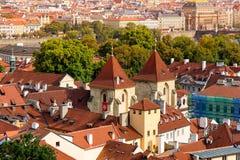St George u. x27; s-Basilika an Prag-Schloss Prag, Tschechische Republik Stockfotos