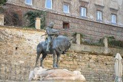 St George und die Drachestatue in Zagreb Lizenzfreie Stockbilder