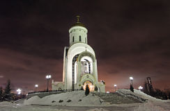 St.George the Victorious Church in Bow Hill, Moscow by night Stock Images
