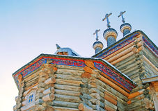 St. George the Victorious church. St. George the Victorious wooden church in Kolomenskoye, Moscow, Russia, in winter Stock Photo