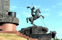 St. George the victorious on Poklonnaya hill. MOSCOW, RUSSIA - JULY 23,2014:St. George the victorious on Poklonnaya hill Stock Photo