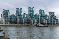 St George Wharf, Londen, het UK Royalty-vrije Stock Afbeelding