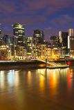 St George Wharf In London At Night Royalty Free Stock Images