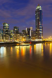 St George Wharf In London At Night Royalty Free Stock Photo