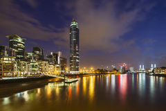 St George Wharf In London At Night Stock Images