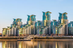 St George Wharf in London Stock Photography