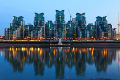 St George Wharf in London Royalty Free Stock Image