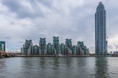 St George Wharf, London, UK Royaltyfria Foton